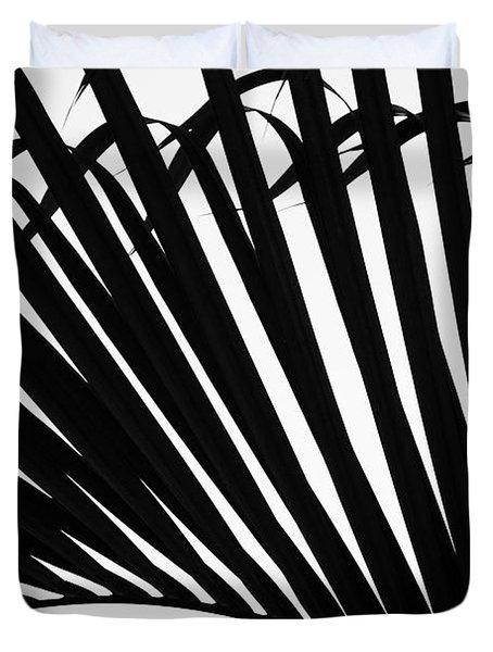 Black And White Palm Branch Duvet Cover