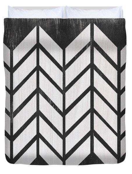 Black And White Quilt Duvet Cover
