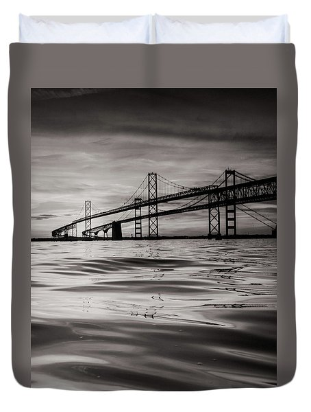 Black And White Reflections 2 Duvet Cover