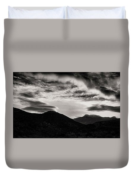 Duvet Cover featuring the photograph Black And White Sunrise by Joseph Hollingsworth