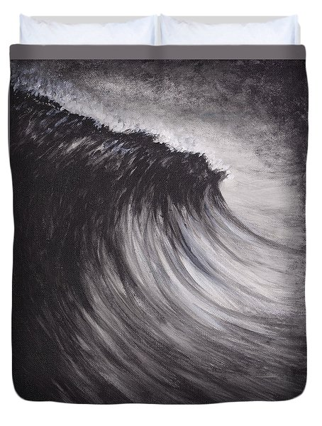 Black And White Wave Guam Duvet Cover