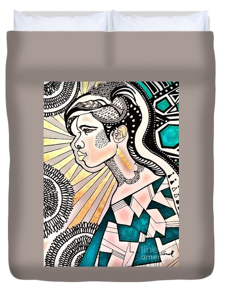 Black Beam Duvet Cover by Amy Sorrell