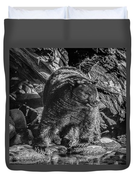 Black Bear Creekside Duvet Cover