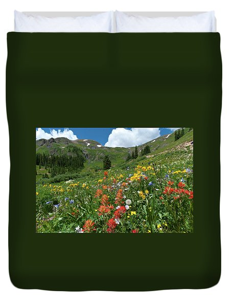 Black Bear Pass Landscape Duvet Cover