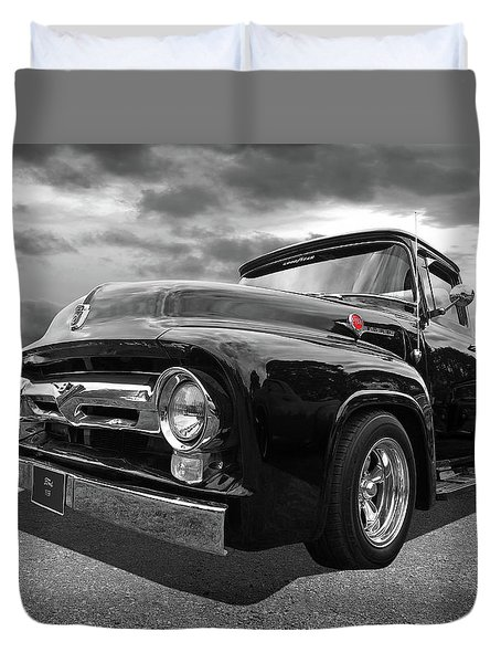 Black Beauty - 1956 Ford F100 Duvet Cover