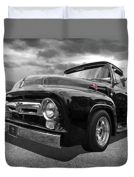 Black Beauty - 1956 Ford F100 Duvet Cover