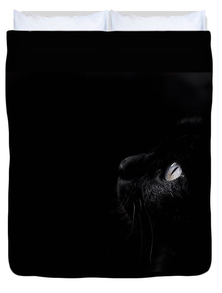 Duvet Cover featuring the photograph Black Beauty by Laura Melis