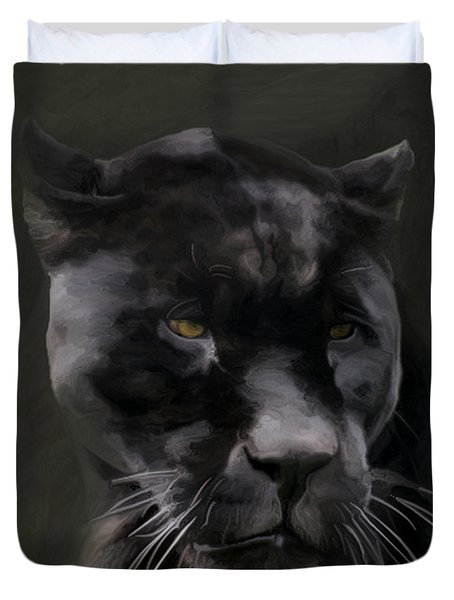 Black Beauty Duvet Cover by Vic Weiford