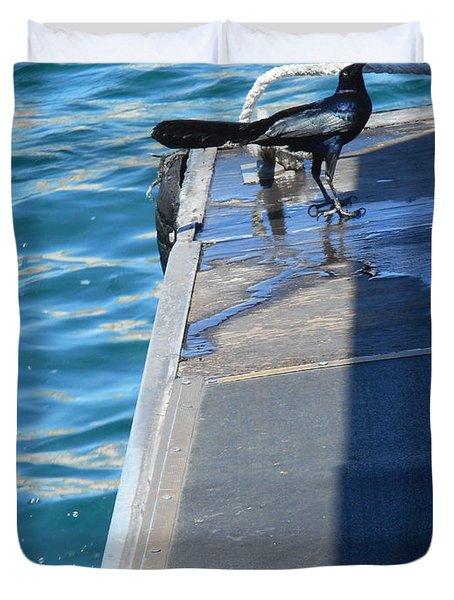 Black Birds 1 Duvet Cover