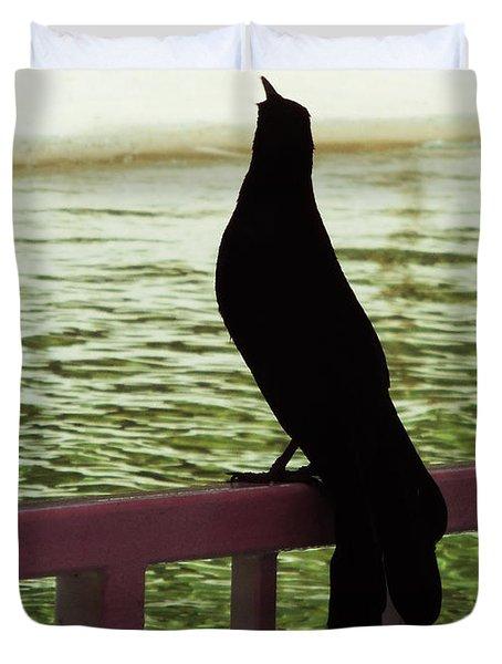 Black Birds 3 Duvet Cover