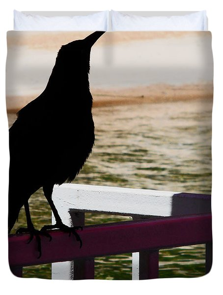Black Birds 4 Duvet Cover