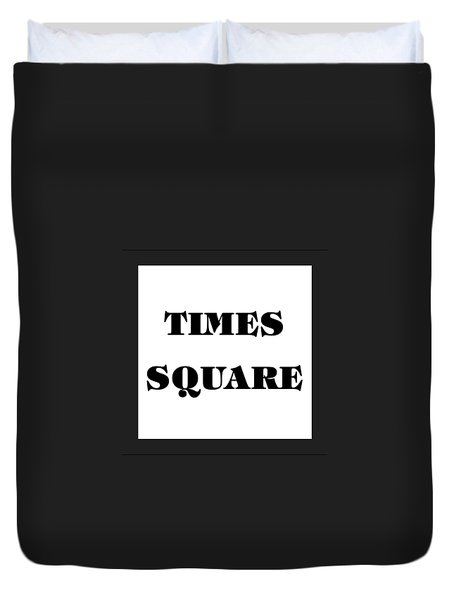 Black Border Times Square Duvet Cover