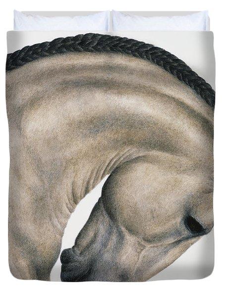 Black Braid Duvet Cover by Pat Erickson