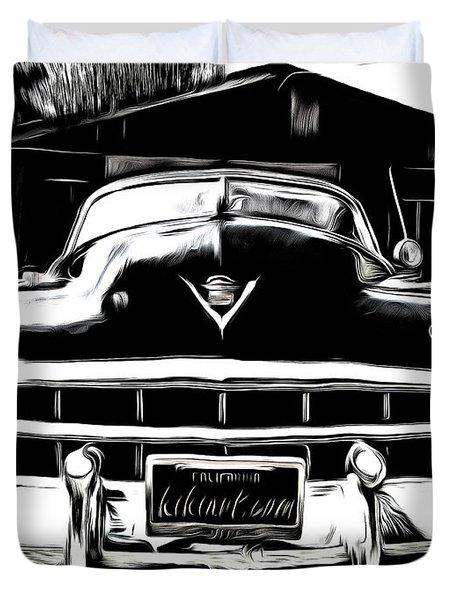 Black Cadillac Duvet Cover