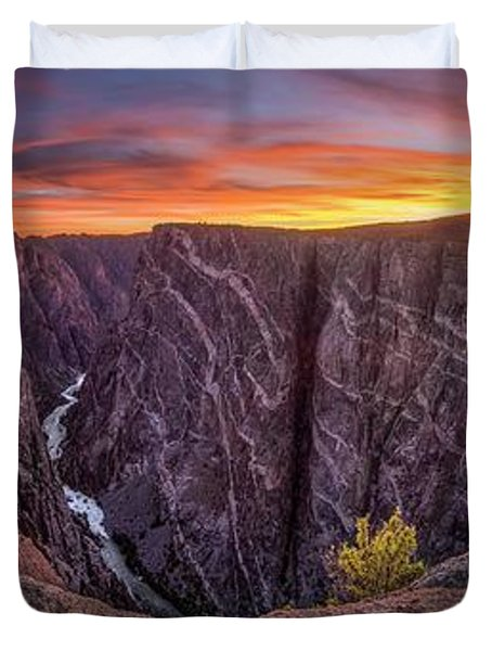 Black Canyon Of The Gunnison Duvet Cover