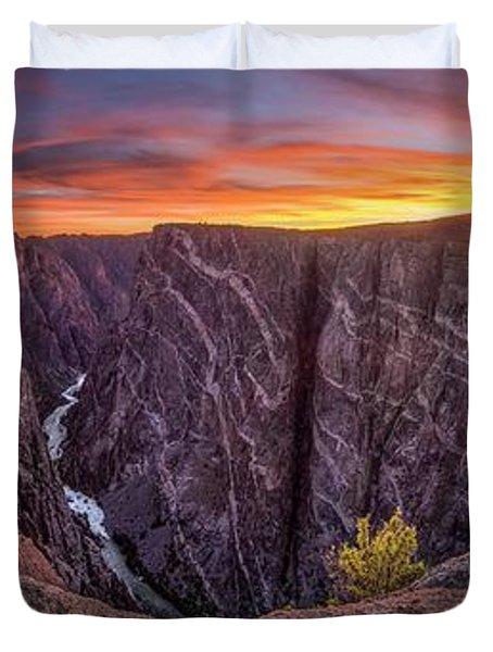 Black Canyon Of The Gunnison Duvet Cover