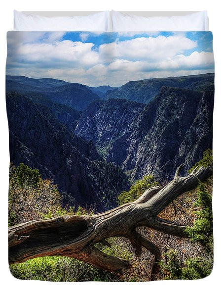 Black Canyon Of The Gunnison First Look Duvet Cover