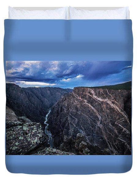 Duvet Cover featuring the photograph Black Canyon Of The Gunnison National Park by Nadja Rider
