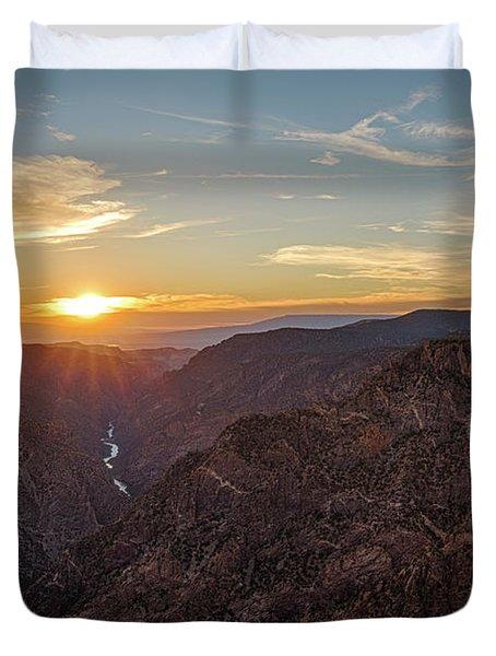 Black Canyon Sunburst Duvet Cover