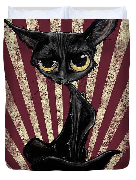 Black Cat Revolution Duvet Cover