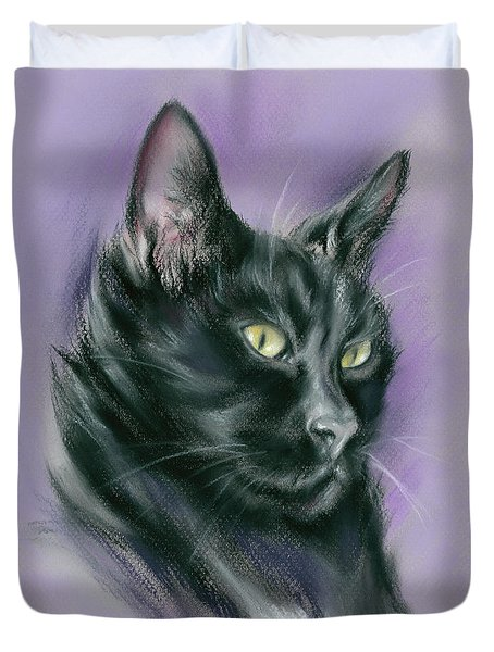 Black Cat Sith Duvet Cover