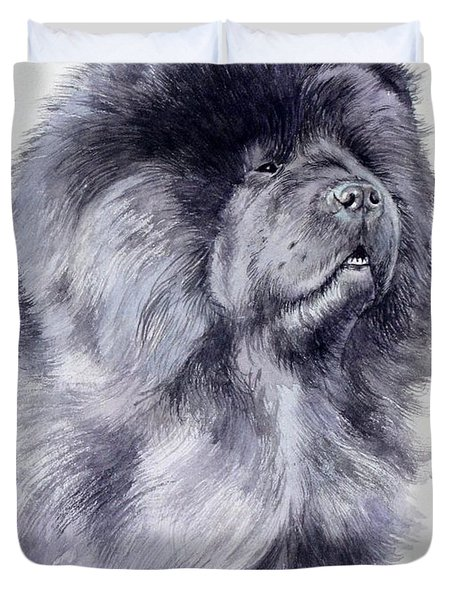 Black Chow Chow  Duvet Cover