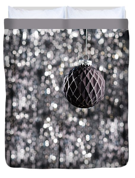 Duvet Cover featuring the photograph Black Christmas by Ulrich Schade