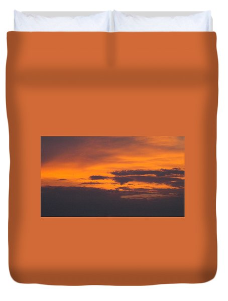 Black Cloud Sunset  Duvet Cover