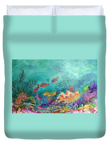 Black Coral Duvet Cover
