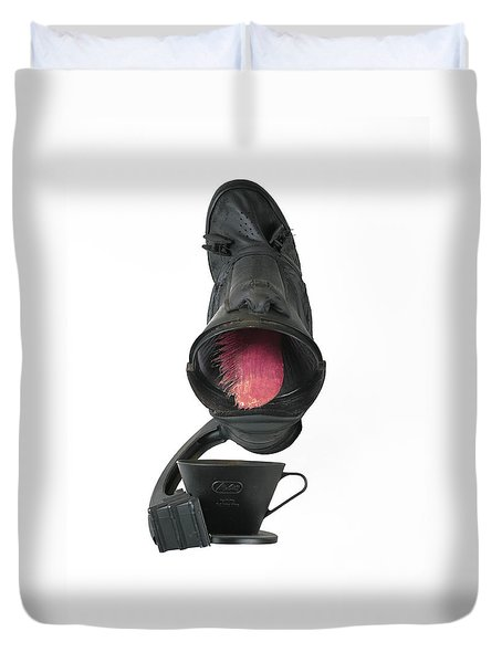 Black Coughee Duvet Cover by Michael Jude Russo