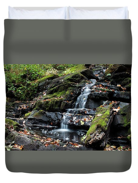 Black Creek Falls In Autumn, 2016 Duvet Cover by Jeff Severson