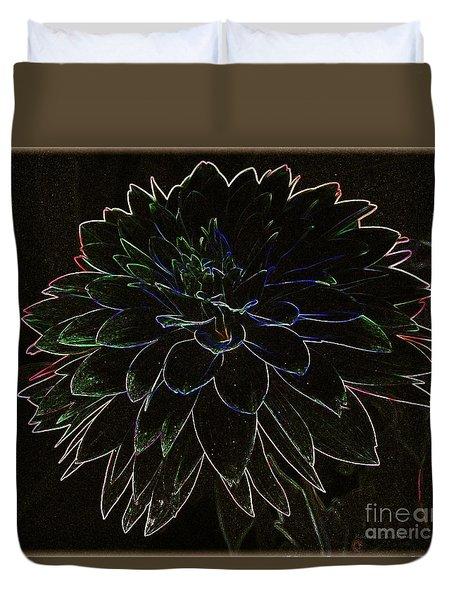 Black Dahlia Duvet Cover