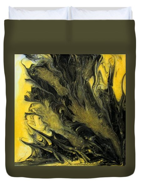 Black Dahlia Duvet Cover