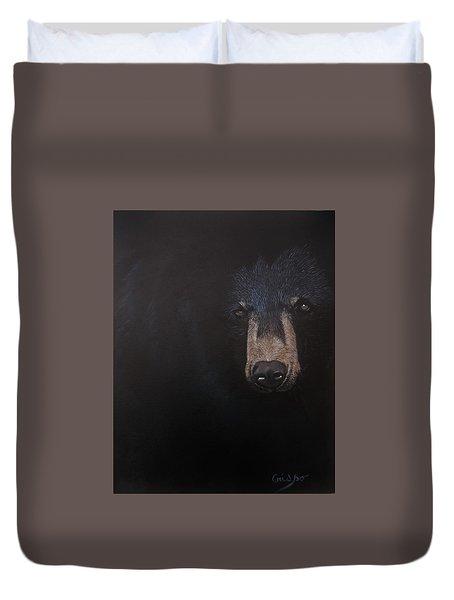 Black Danger Duvet Cover by Jean Yves Crispo
