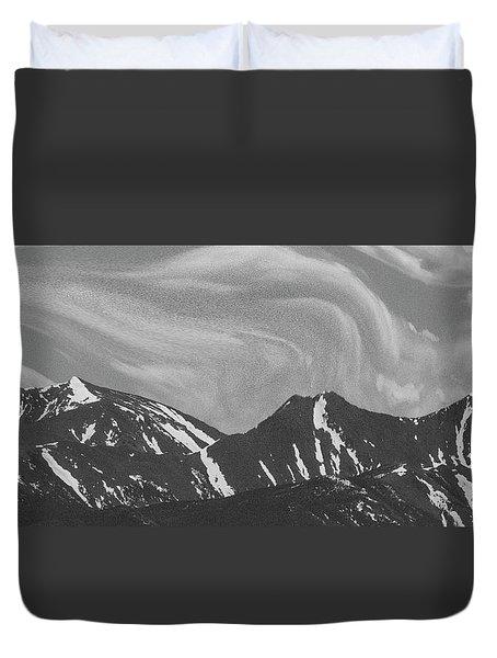 Black Day Mountain Duvet Cover