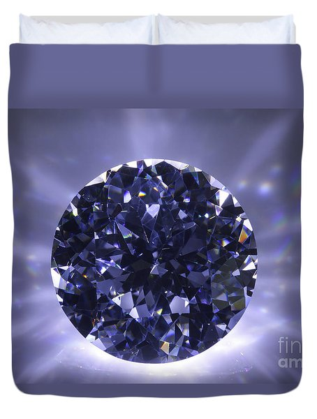Black Diamond Shine Aura. Duvet Cover by Atiketta Sangasaeng