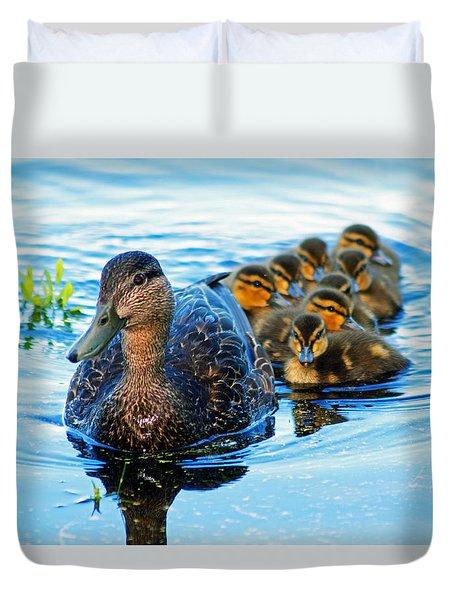 Black Duck Brood Duvet Cover