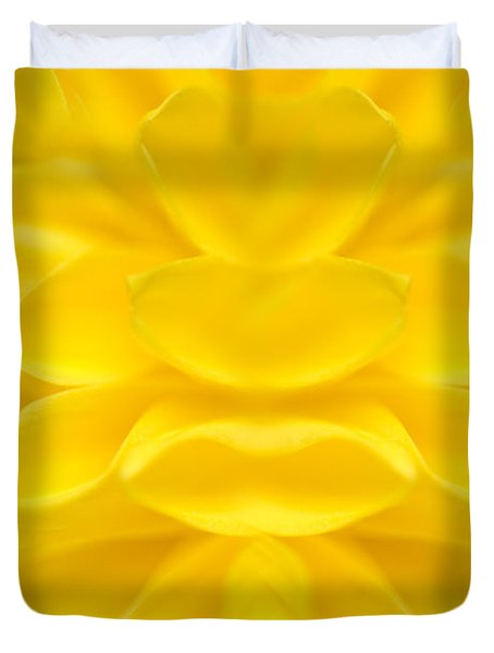 Black Eyed Susan Abstract Duvet Cover