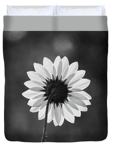 Black-eyed Susan - Black And White Duvet Cover
