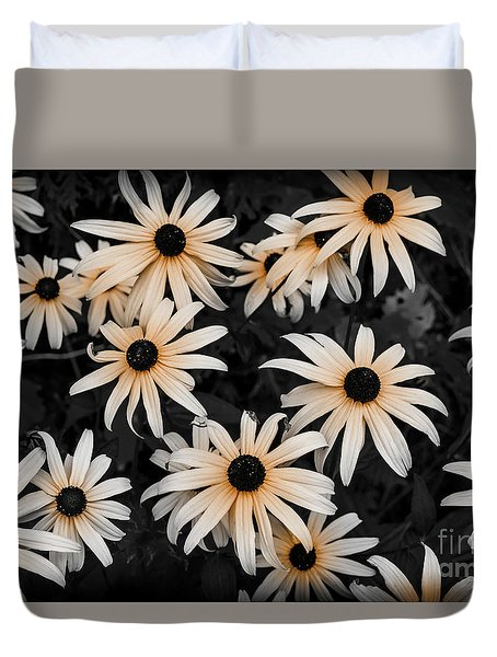 Duvet Cover featuring the photograph Black Eyed Susan by Elena Elisseeva