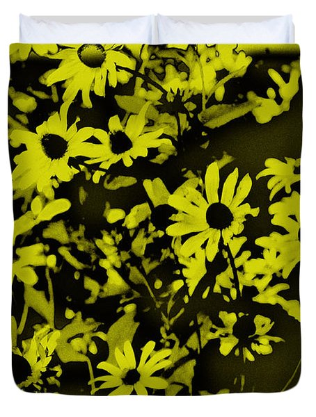 Black Eyed Susan's Duvet Cover by Bill Cannon