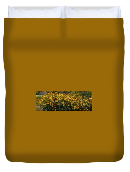 Duvet Cover featuring the photograph Black Eyed Susans by Bonnie Willis