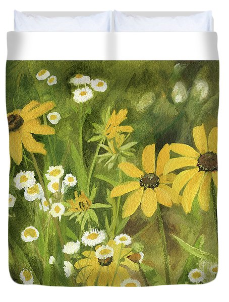 Black-eyed Susans In A Field Duvet Cover