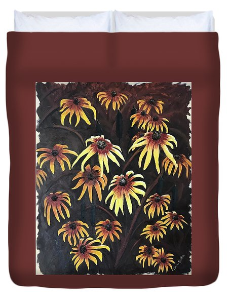Black Eyed Susie Duvet Cover
