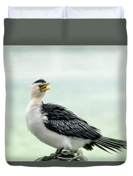 black faced Cormorant 02 Duvet Cover