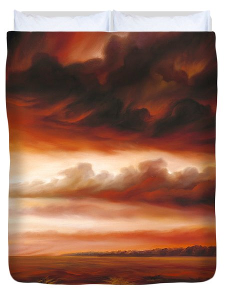 Black Fire Duvet Cover by James Christopher Hill