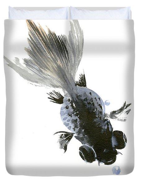 Black Fish Duvet Cover