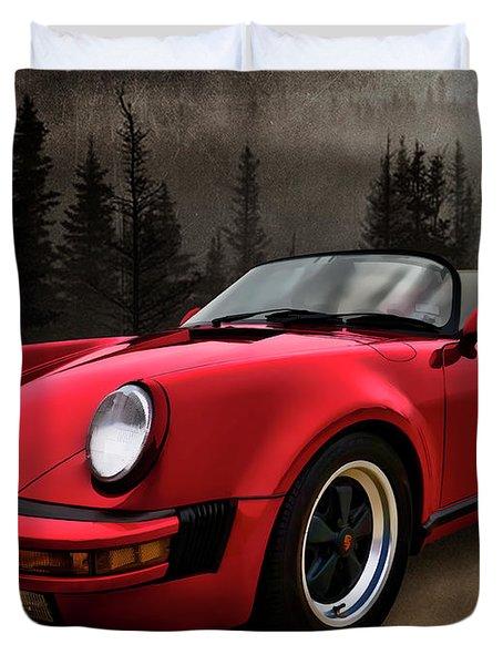 Black Forest - Red Speedster Duvet Cover by Douglas Pittman