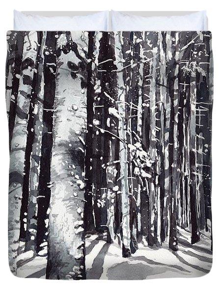 Black Forest Watercolor Duvet Cover