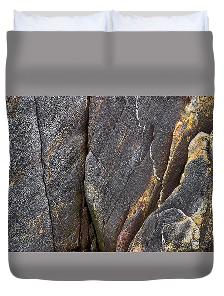 Black Granite Abstract Two Duvet Cover